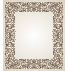 vintage filigree frame with floral patterns vector image