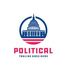 white house political logo vector image