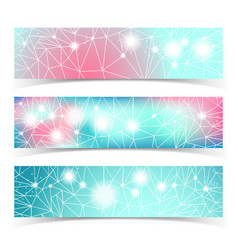 banner set with multiple lines vector image vector image