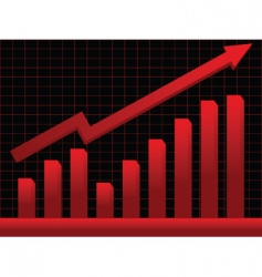 business chart vector image vector image