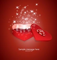 heart box 2 vector image