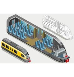 Isometric High Speed Subway Longitudinal Section vector image