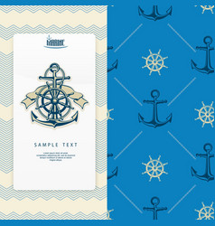 nautical banner vector image