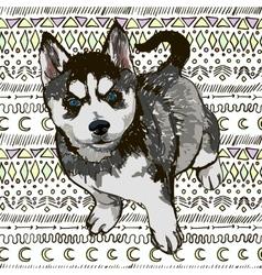 Puppy Husky vector image vector image