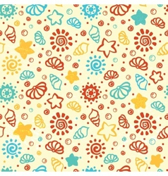 Summer shell pattern vector image