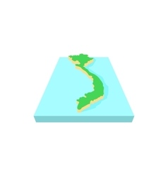 Vietnam map icon cartoon style vector image