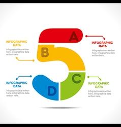 creative alphabet 5 info-graphics design concept v vector image