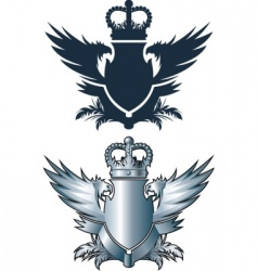 crown and iron wings vector image vector image