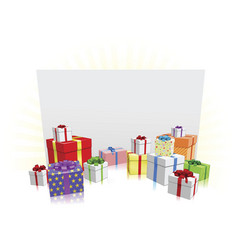 gifts and sign concept vector image vector image