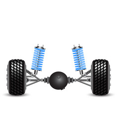 rear suspension of the car springs and vector image vector image