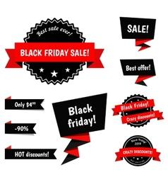 Black Friday Sale elements vector image