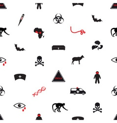 ebola disease icons seamless white pattern eps10 vector image vector image