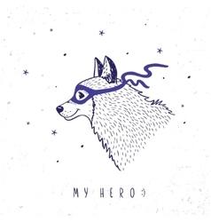 Husky my hero vector image vector image