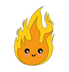 Isolated big flame vector