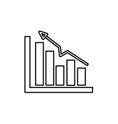 Line business statistic data growing diagram vector