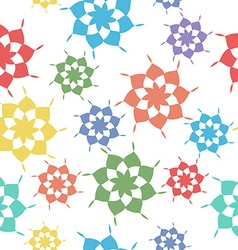 Seamless pattern abstract shapes vector image vector image
