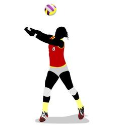 al 0403 volleyball 02 vector image vector image