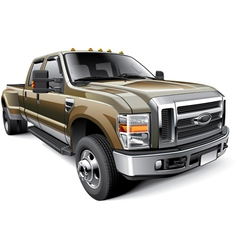 American full size pickup truck vector image vector image