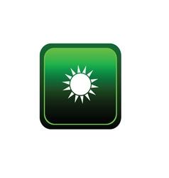 button sun vector image vector image
