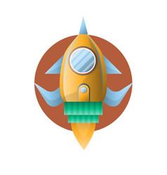 Futuristic space ship vector