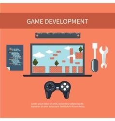 Game development concept vector image vector image
