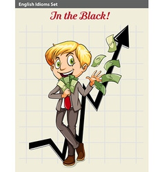 A boy in the black vector