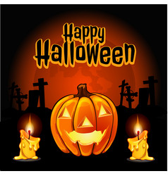 A poster on the theme of the halloween holiday vector