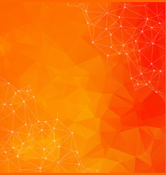 abstract polygonal orange background triangular vector image