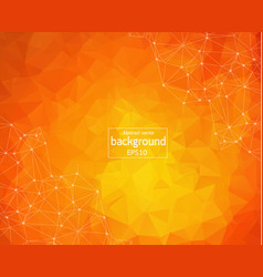 abstract polygonal orange background with vector image