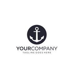 Anchor for logo design editable vector