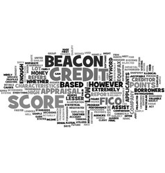 beacon credit score text word cloud concept vector image