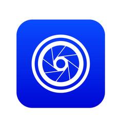 Big objective icon digital blue vector