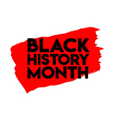 Black history month logo template design vector
