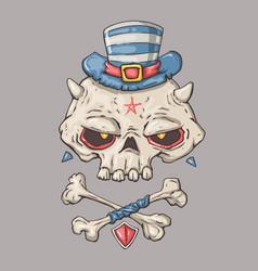 cartoon skull for web vector image