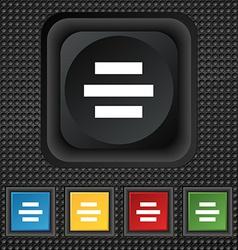 Center alignment icon sign symbol Squared vector