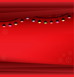 christmas background with lamp vector image