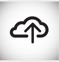 cloud storage upload on white background vector image