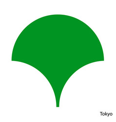 Coat arms tokyo is a japan prefecture emblem vector