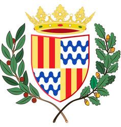 Coat of arms of badalona in barcelona of spain vector