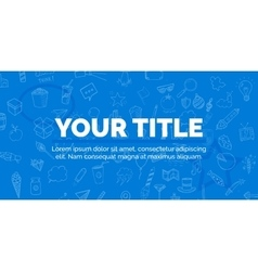 Cover your title on blue background with objects vector