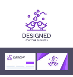 creative business card and logo template bride vector image