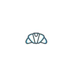 croissant icon design gastronomy icon vector image