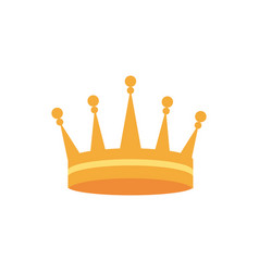 Crown monarch jewel royalty heraldic vector
