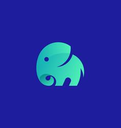 cute elephant bright gradient logo design vector image