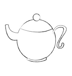 Cute teapot isolated icon vector