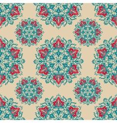 Damask floral ornamental pattern vector