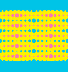 dotted pop art seamless pattern in 1960s style vector image