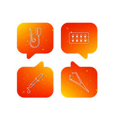 Drop counter capsules and pipette icons vector