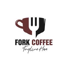 Fork cup restaurant inspiration logo vector