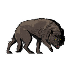 Giant wolf from norse myth fenrir vector